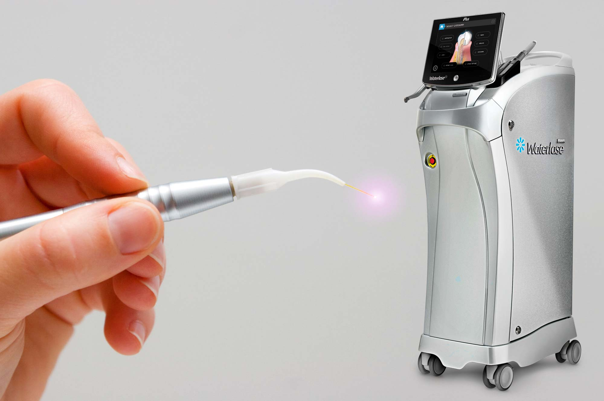 Comfortable laser dentistry